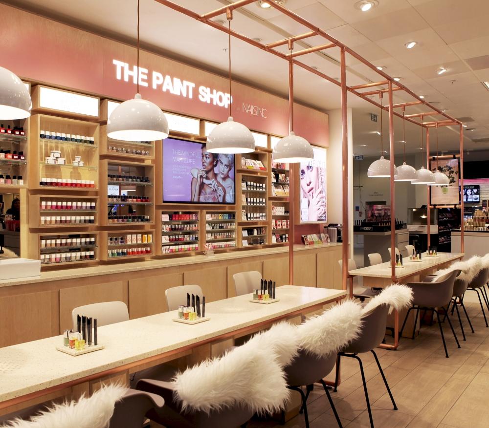 The Paint Shop For Nails Inc At Selfridges London